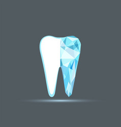 logo design tooth vector image