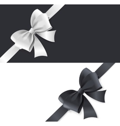 Luxury Bows and Ribbons Card vector image