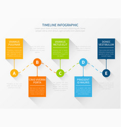 Modern timeline workflow chart infographic vector