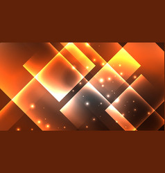 neon shiny color squares on black modern template vector image