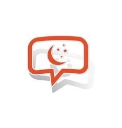 Night message sticker orange vector