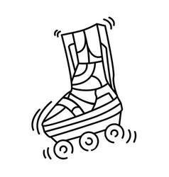 playground kids roller skate vector image