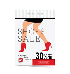 Poster of woman shoes sale vector
