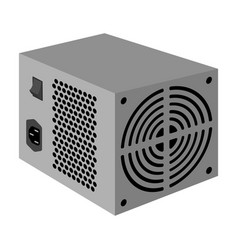 Power supply unit icon in monochrome style vector