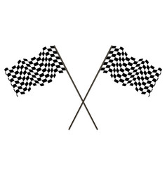 racing flag of the winner developing in the wind vector image