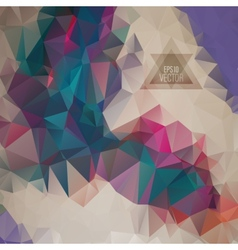 Retro pattern geometric shapes vector