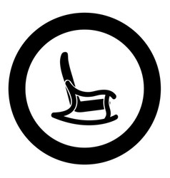 Rocking chair icon black color in circle vector