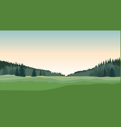 rural landscape countryside nature skyline vector image