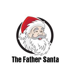 Santa claus greeting board on christmas vector