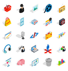 Score icons set isometric style vector