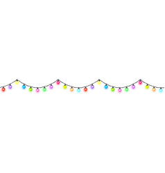 Seamless festive bright glowing garland vector