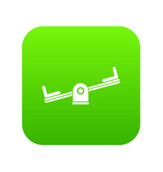seesaw icon digital green vector image