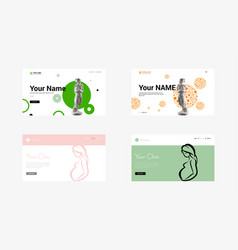 set of creative website template designs for vector image