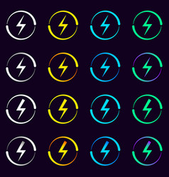 set of electrical signs vector image