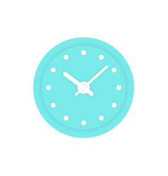 Simple mint clock icon vector
