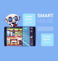 smart house interface on digital tablet modern vector image