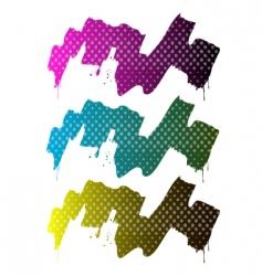 splash paint halftone vector image
