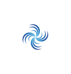 splash water wave beach logo and symbol vector image