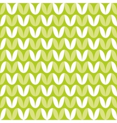 Tile green and white knitting pattern vector