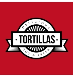 Tortillas stamp vitage style logo vector