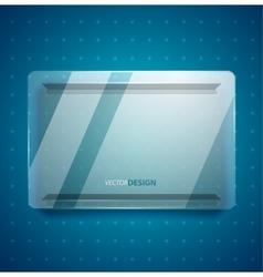 Transparent glass ad screen vector