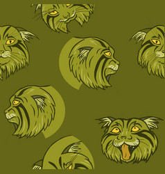 wild cat vector image
