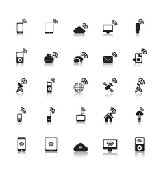 wireless icons hotspot vector image