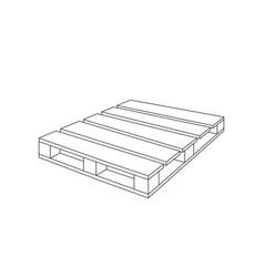 Wooden pallet vector