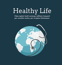World Health Day Celebrating Card or Poster Design vector image
