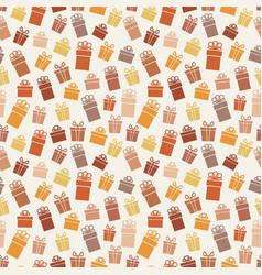festive gift box seamless pattern vector image