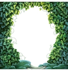 Frame for text decoration Enchanted Forest from vector image