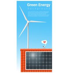 Green energy background vector