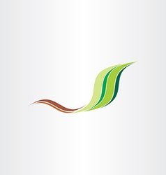 green leaf stylized spring wave abstract vector image