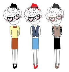 Sheep fashion-monger vector