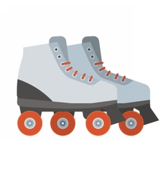 White Roller Blades vector image vector image