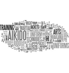 aikido uniform text word cloud concept vector image
