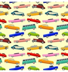Colorful seamless pattern with limousines vector