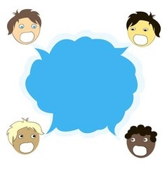 multicultural dialogue between people of all races vector image vector image