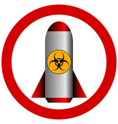 No biohazard rocket vector image