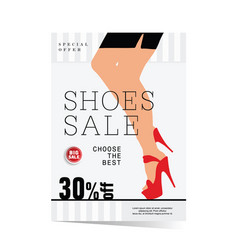 poster of woman shoes sale with special offer vector image vector image
