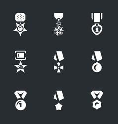 set of military award icons vector image vector image