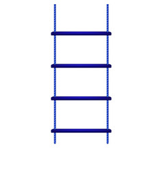 wooden rope ladder in blue design vector image vector image