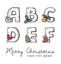 xmas alphabet vector image