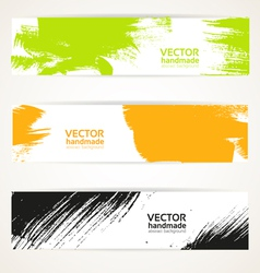 Abstract color handdraw banner set vector image vector image