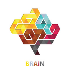 brain polygon abstract vector image
