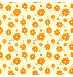 colorful flowers seamless background orange vector image vector image