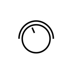 line volume button icon vector image