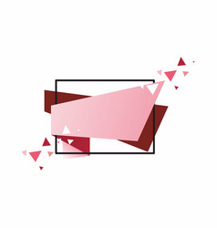 the template for the banner vector image vector image