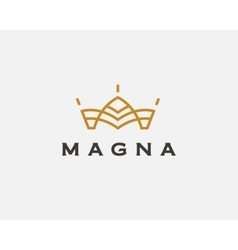 Abstract flower logo icon design crown vector