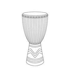 djembe sketch vector image vector image